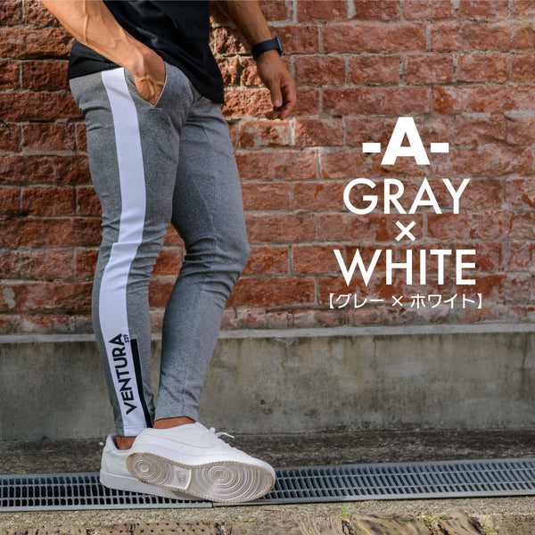 ONE LINE LONG PANTS- GREY