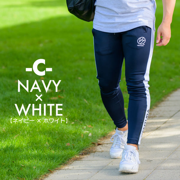 ONE LINE LONG PANTS- NAVY