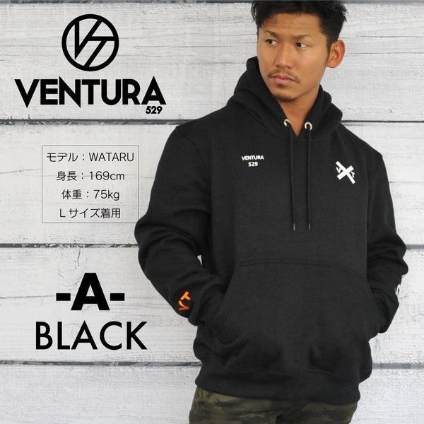 VENTURA529  SWEAT PULLOVER BLACK