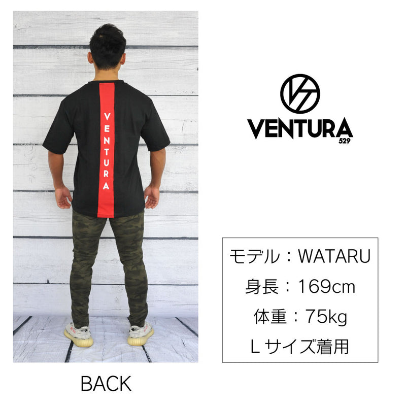 VENTURA  T-SHIRT-BLACK×RED