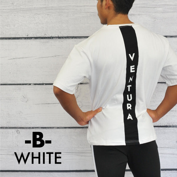 VENTURA  T-SHIRT-White×BLACK