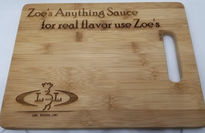 Zoe's Engraved (Real Flavor) cutting board