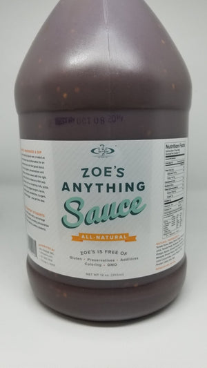 Zoe's Anything Sauce, Gallon