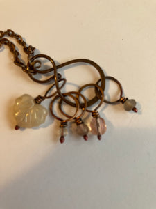 Feral Knitting stitch Marker necklace