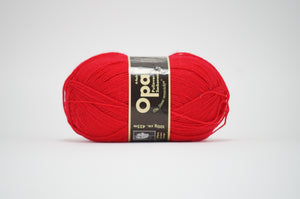 Opal 4ply solid colour.5180 Red