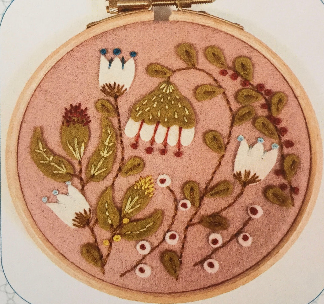 Applique Hoop Folk Garden Mini Kit