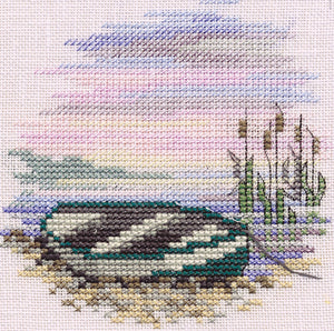 Rowing Boat on Linen