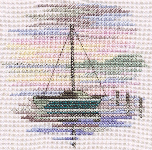 Sailing Boat  on Linen