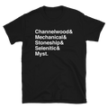 Ages of Myst + Helvetica Shirt - Straight-Cut, Dark