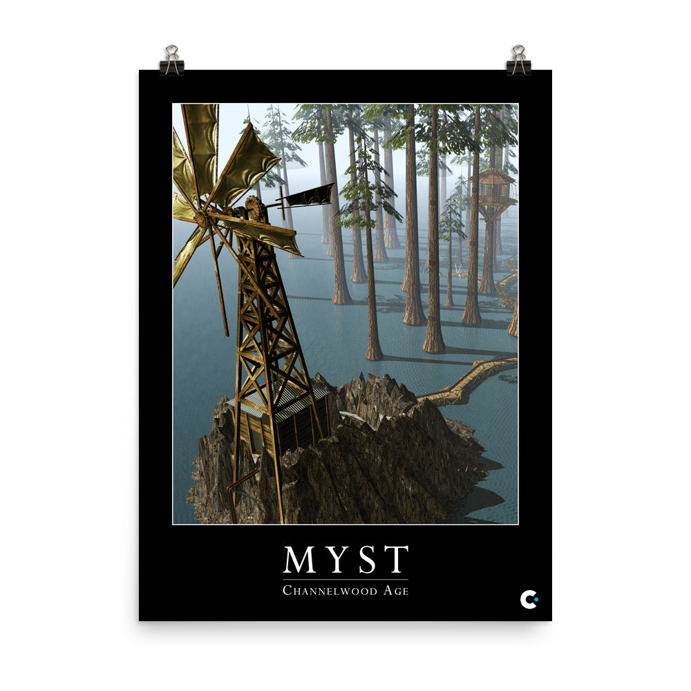 Myst - Channelwood Age Iconic Poster