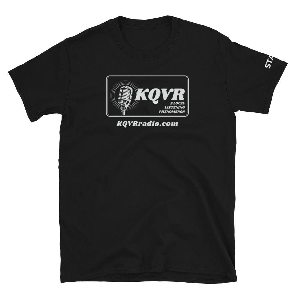AREA MAN LIVES KQVR Staff Shirt - Straight-cut, Dark