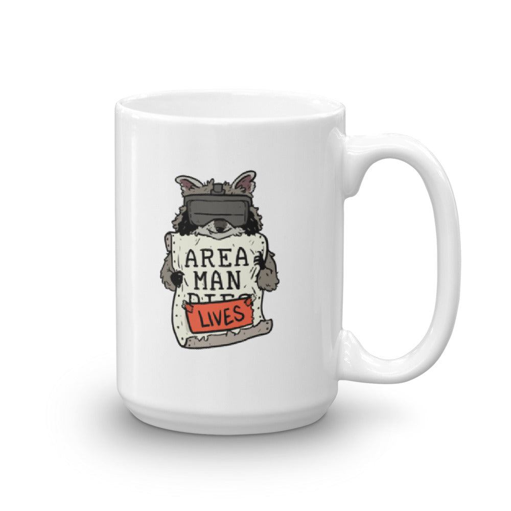 AREA MAN LIVES - Logo Mug