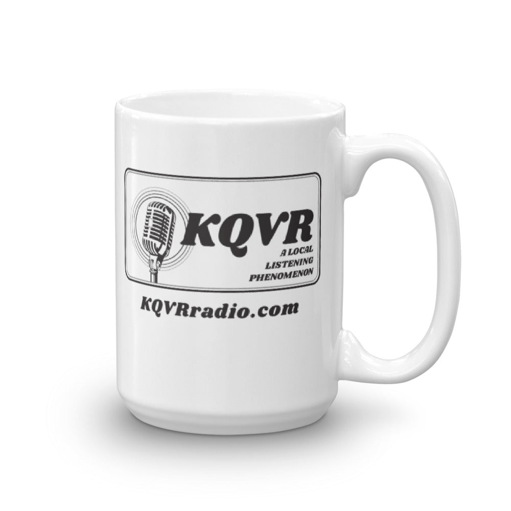 AREA MAN LIVES - KQVR Mug
