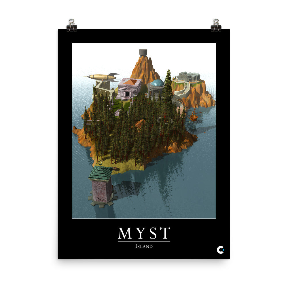 Myst Island Iconic Poster