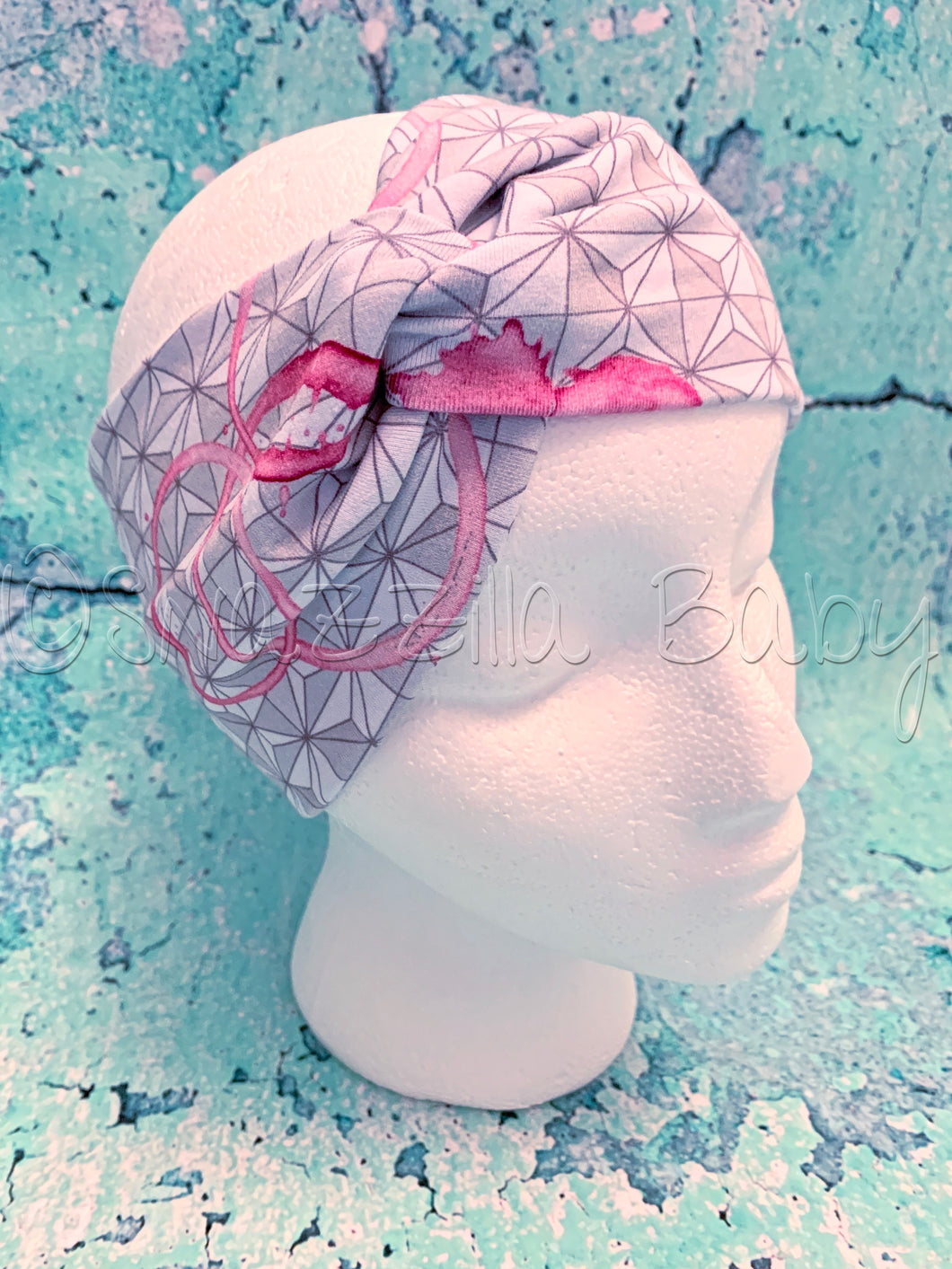 Adult Wine Stains Knot Headband