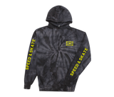 Authority Tie Dye Pullover Black Spiral