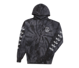 Trench Light Tie Dye Pullover Black Spiral