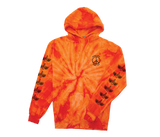 Trench Light Tie Dye Pullover Orange Spiral