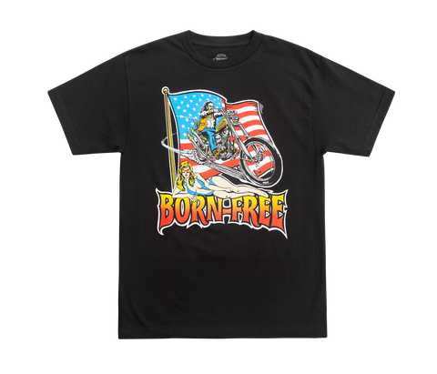 Born-Free Chopper Flag Tee