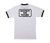 Destroy Box Ringer Tee White/Black
