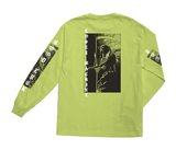 Last Ride LS Stock Tee Safety Green