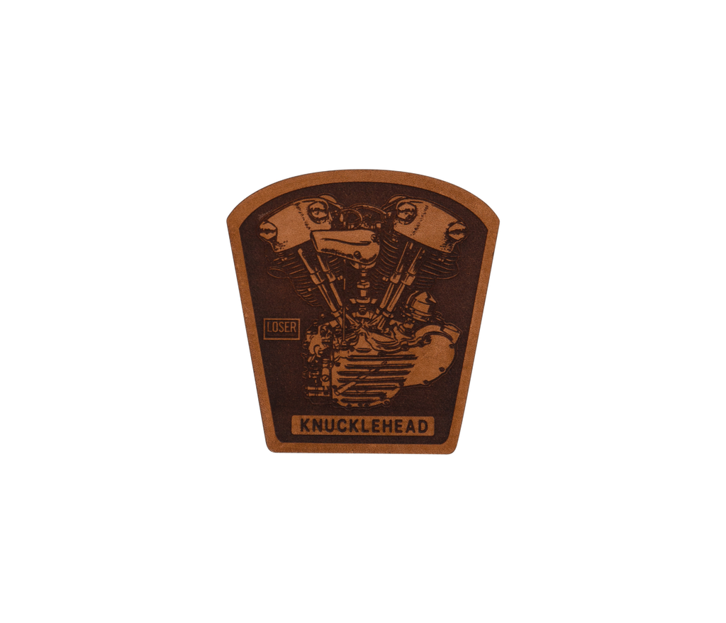 Knucklehead Leather Patch