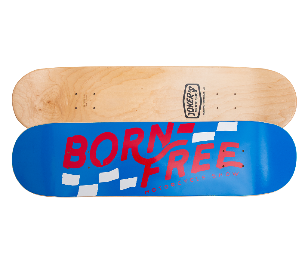 "Born-Free Checkered Deck 8.0"" Blue"