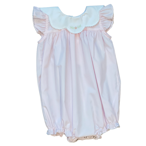 Light Pink Lily Embroidered Bubble