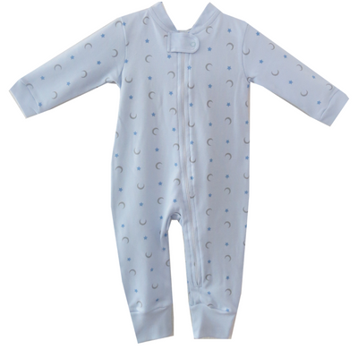 Light Blue Moon & Stars Onesie