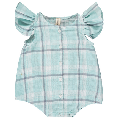 Cammie Bubble in Aqua Check