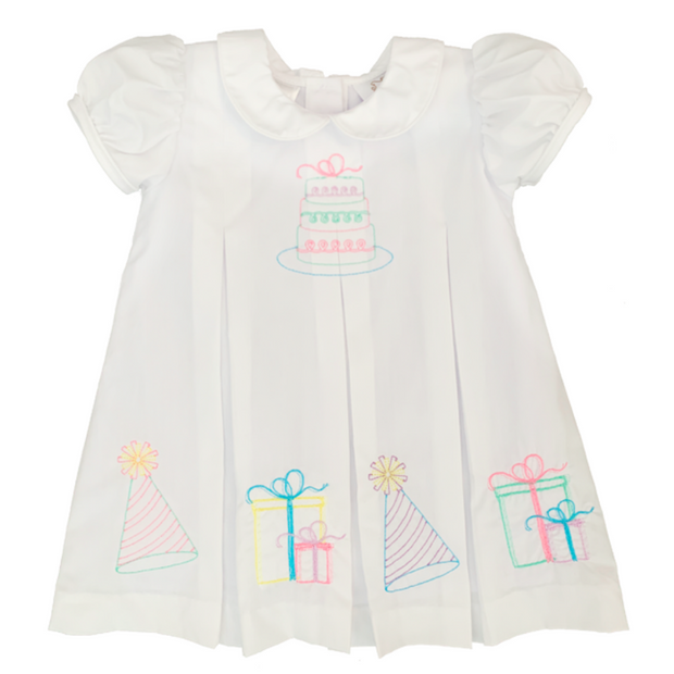 White Embroidered Birthday Dress