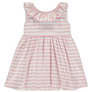 Bella Dress in Pink Stripe