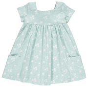 Rylie Dress in Aqua Dandelion