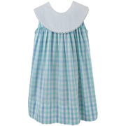 Sandra Dress in Blue & Green Plaid