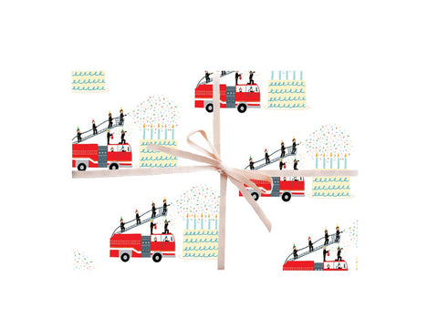 Firetrucks Gift Wrapping