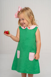 Virginia Green Strawberry Dress