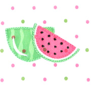 Magnolia Baby One in a Melon Embroidered Flutters Ruffle Bubble