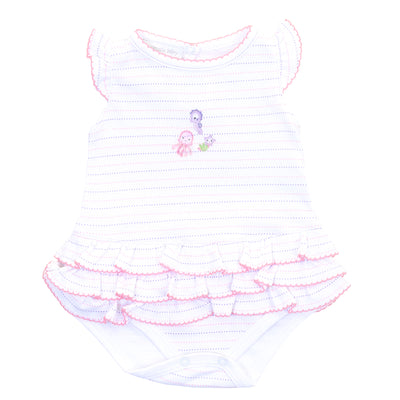 Ocean Wonders Embroidered Flutters Ruffle Bubble