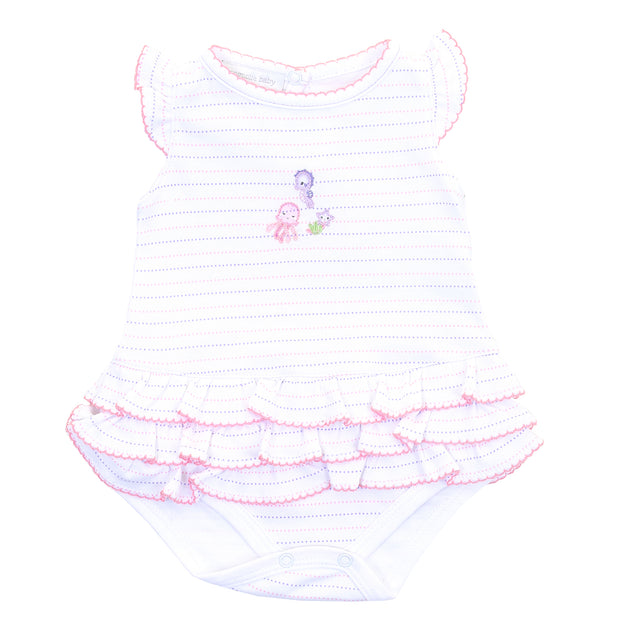 Magnolia Baby Ocean Wonders Embroidered Flutters Ruffle Bubble