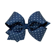 Wee Ones King Dot Print Grosgrain Bow