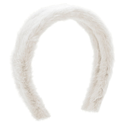 Wee Ones White Faux Fur Tapered Headband