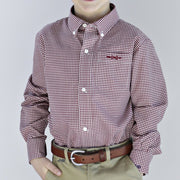 Bowen Arrow Button-Down in Gadsden Garnet Gingham