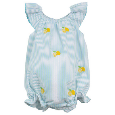 Lemon Embroidered Angel Sleeve Bubble