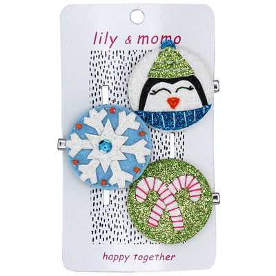 Cute Penguin Hair Clip Trio