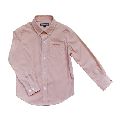 Bowen Arrow Button-Down in Oyster Point Orange Gingham