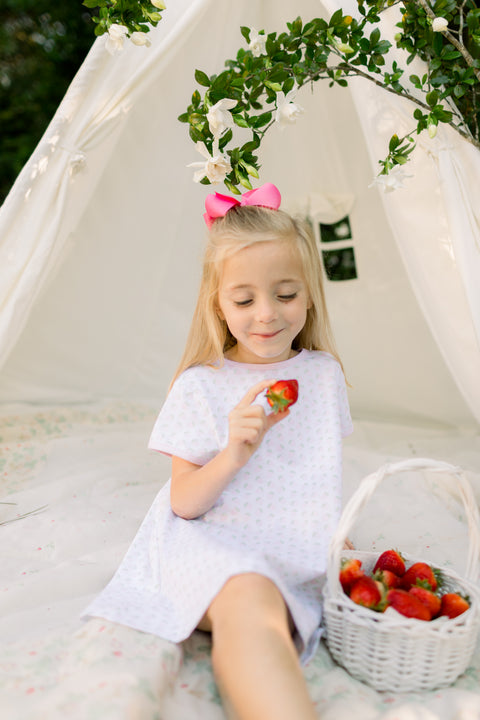 Faith Dress in Strawberry Print