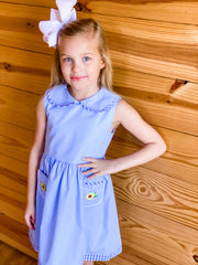 Zuccini Kids Sunflower Appliqué Dress with Collar