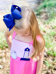 Whale Appliqué Girl Dress