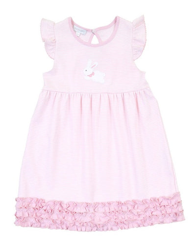 Magnolia Baby Little Bunny Appliqué Ruffle Dress