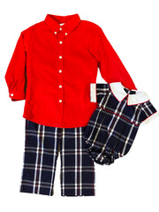 Zuccini Kids Scotland Plaid Woven Bubble